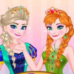 Jogo Arrume Anna e a Elsa Para o Baile