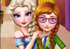 Arrume Elsa e Anna Colegiais