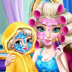 Jogo Arrume Rainha Elsa e Sua Bebê
