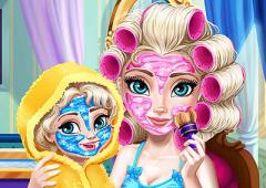 Arrume Rainha Elsa e Sua Bebê