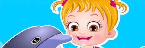 Baby Hazel Aprende Sobre os Golfinhos