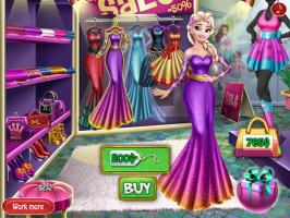 Comprando Roupa Com Elsa - screenshot 2