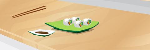 Emma Cozinha Rolinhos de Sushi