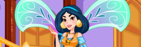 Jasmine se Veste de Fada Winx