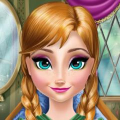 Jogo Limpe e Maquie a Anna do Frozen