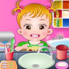 Jogo Neném Hazel Escova Seus Dentinhos