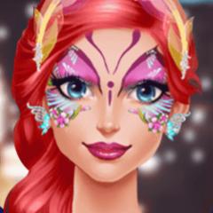 Jogo Pinte o Rosto da Princesa