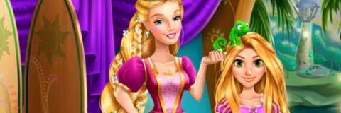 Rapunzel Costura o Vestido da Barbie