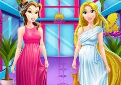 Rapunzel e Bela compram roupas para grávidas