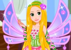 Rapunzel Se Veste de Fada Winx