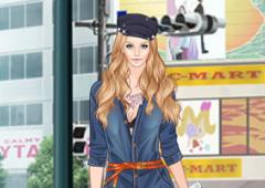 Vestir Helen de Camisa Jeans