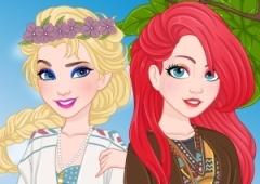 Vista a Elsa e a Ariel No Estilo Boêmio