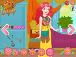 Vista a Elsa e a Ariel No Estilo Boêmio - screenshot 3