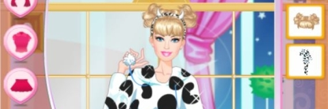 Vista Barbie na Festa do Pijama